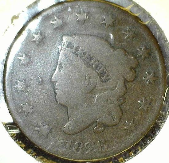 1826 Coronet Head Large Cent