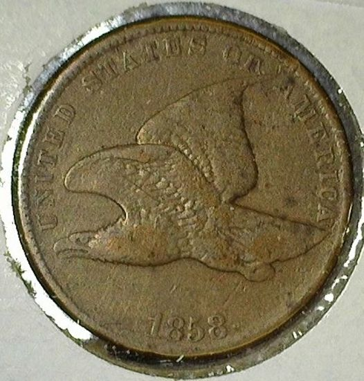 1858 Small Letters Flying Eagle Cent