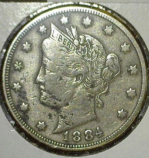 1884 V Nickel
