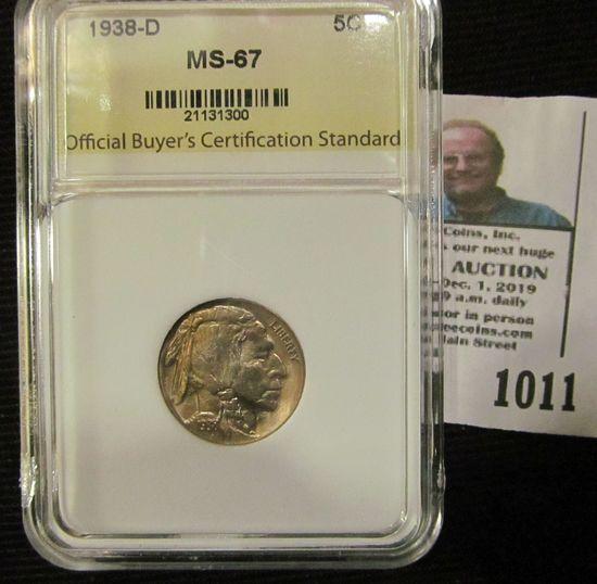 1938-D Buffalo Nickel Graded MS 67