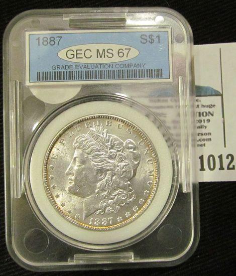 1887 Morgan Silver Dollar Graded MS 67