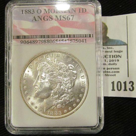 1883-O Morgan Dollar Graded MS 67