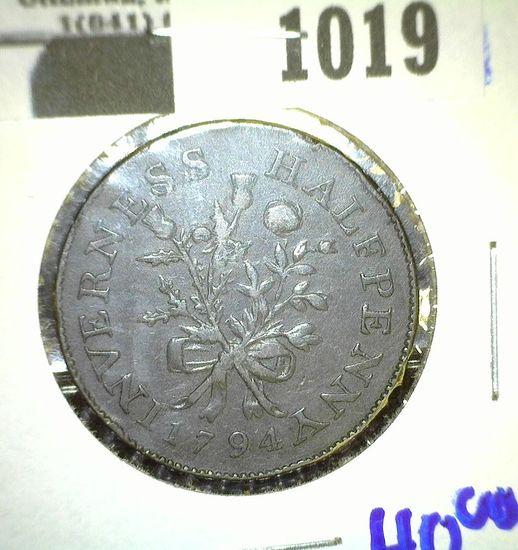 1794 Great Britain Condor Token- Inverness Halfpenny
