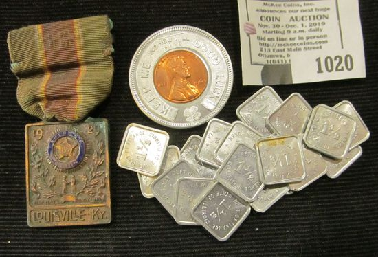 Odds And Ends Lot Includes Illinois Tax Tokens, 1929 American Legion 100th National Convention In Lo