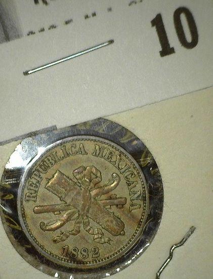 1882 Mexico Two Peso, EF. KM392.
