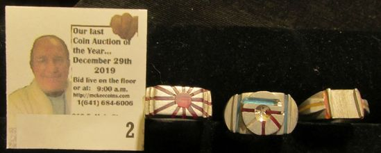 (3) Different Rings brought back from Japan by a World War II Veteran, made from Aircraft Aluminum.