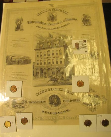 """13"""" x 16"""" large poster/sign """"1856 1876 Mills & Company Lithographers, Engravers, & Printers Blank Bo"""
