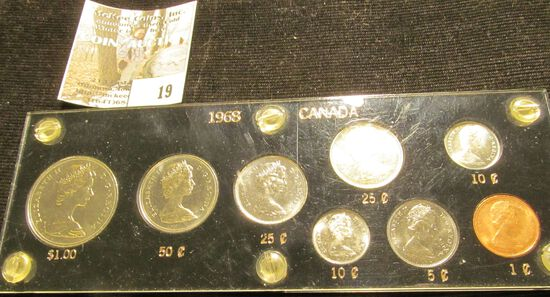 1968 Canada Prooflike Set in a black Capital holder with gold lettering.