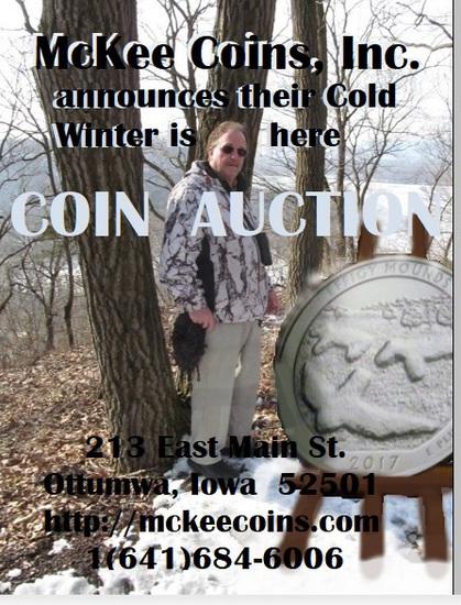 Mckee Coins Inc. March 1st Live Auction