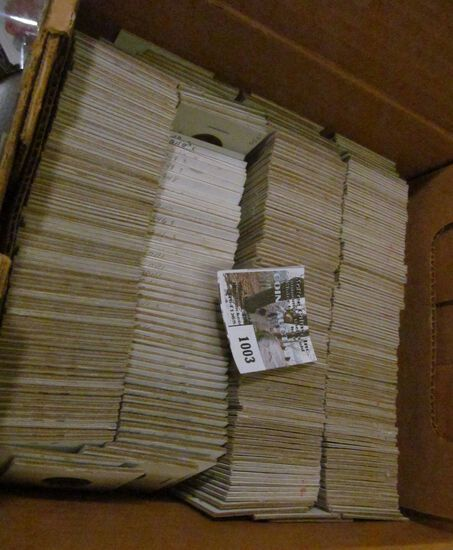 """8"""" x 9"""" Box full of old U.S. Wheat Cents, all carded and ready for pricing and display at the coin s"""