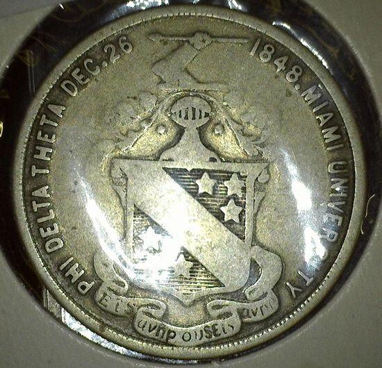 """Phi Delta Theta Dec.26 1848.Miami University"", ""Drake Morrison Wilson Rodgers Lindley Rogers/Edward"