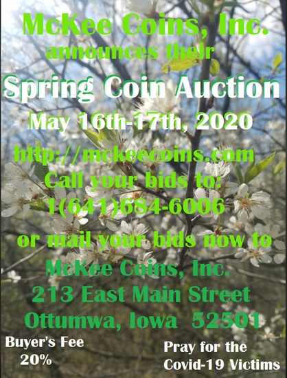 Mckee Coins Inc. May 16th Live Auction