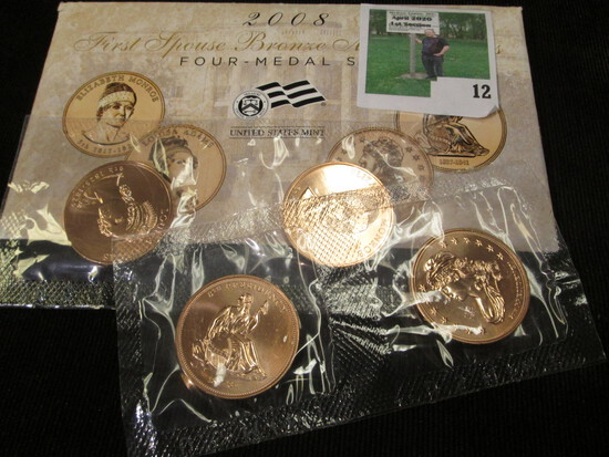 First Spouse Bronze Medal Series includes Elizabeth Monroe, Louisa Adams, Jackson's Liberty, and Van