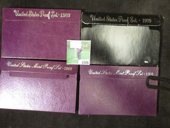 1979 S, 87 S, 1988 S, & 1989 S  U.S. Proof Sets in original boxes of issue.