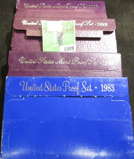 1983 S, 88 S, 89 S, & 92 S U.S. Proof Sets in original boxes of issue.
