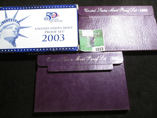 1988 S, 89 S, & 2003 S U.S. Proof Sets in original boxes of issue.