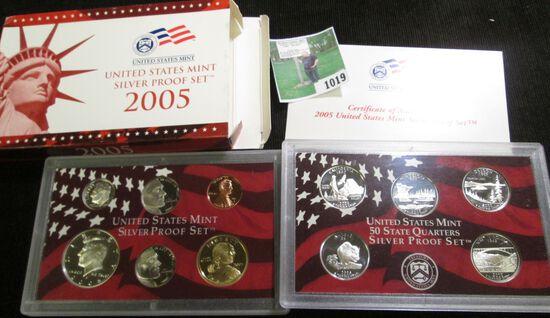 2005 S U.S. Silver Proof Set. (10 pcs.).