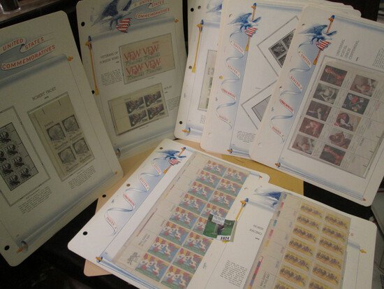 Old Mint U.S. Stamp Collection of Partial Sheets & Plateblocks. ($17.40 face value).