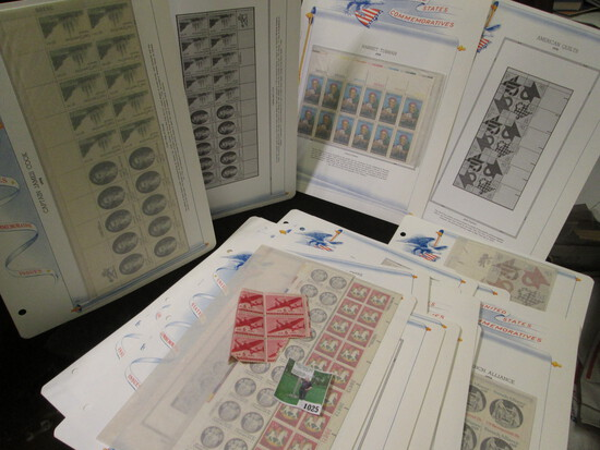 Old Mint U.S. Stamp Collection of Partial Sheets & Plateblocks. ($15.66 face value).