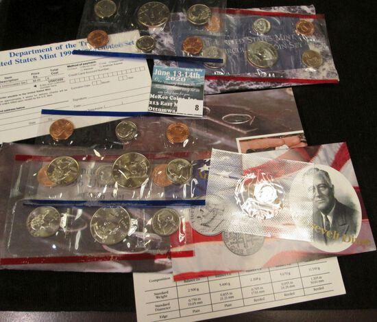 1996 & 1997 P & D U.S. Mint Sets, original as issued.