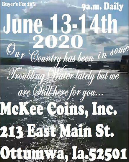 Mckee Coins Inc. June 14th Live Auction 2020