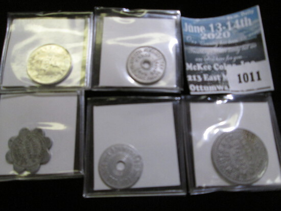 State Of Washington Tax Token, 2- Good For 25 Cents Token J.E, Weber & Company General Merchandise,