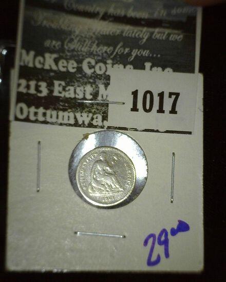 1861 Seated Half Dime