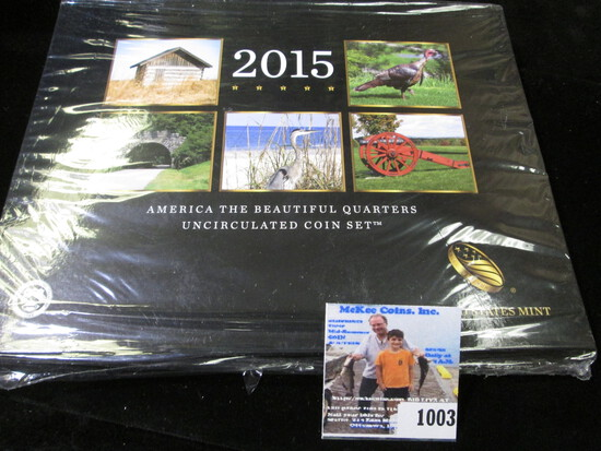 "2015 & 2017 ""America The Beautiful Quarters Uncirculated Coin Set(s)"" in original holder and remaini"