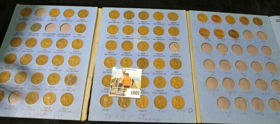 Whitman Lincoln Cent coin folder with many coins dating from 1941 up.