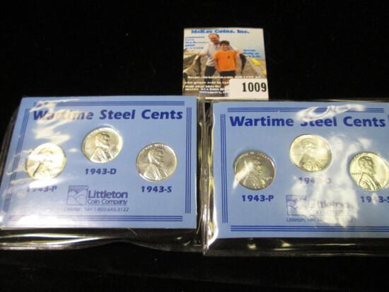 (2) Wartime Steel Cent Sets.