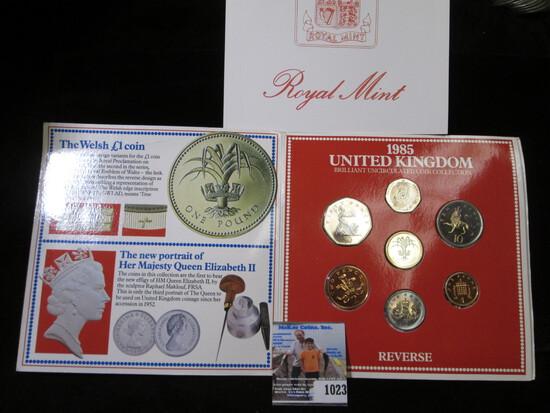 1985 United Kingdom 7-piece Royal Mint Set in original holder.