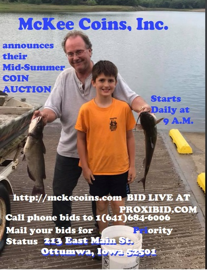 Mckee Coins Inc. Summer Live Auction