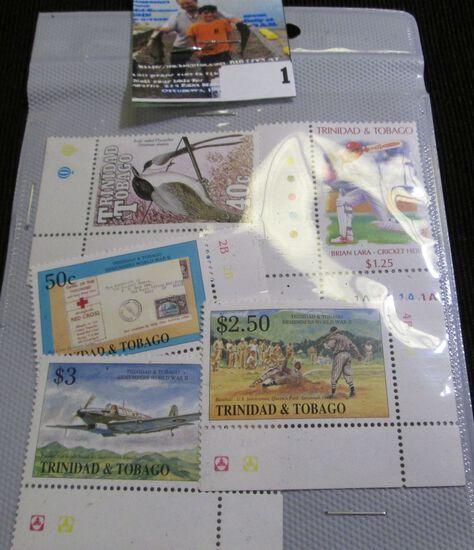 (5) Mint condition Trinidad & Tobago Postage Stamps.