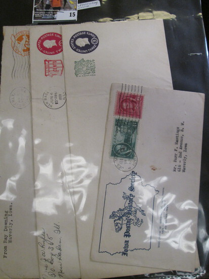 (4) Interesting old 1950 era Covers with Stamps.