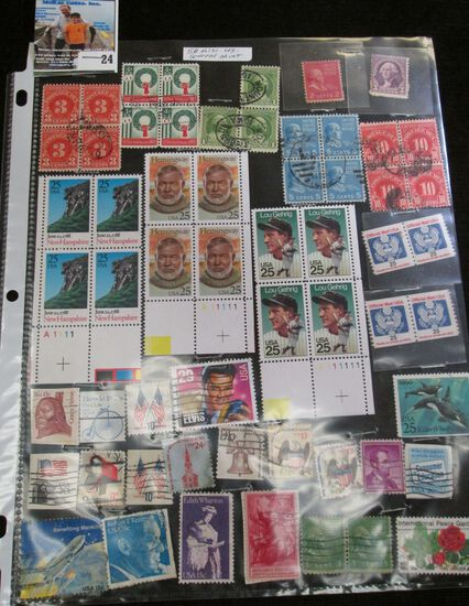 (58) Miscellaneous U.S. Stamps, several are Mint condition.