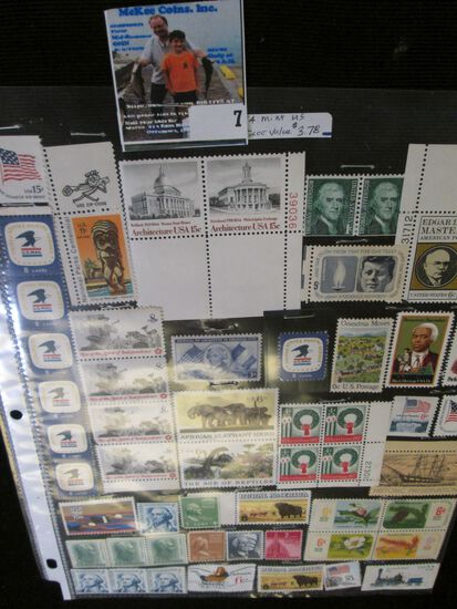 (54) Miscellaneous Mint U.S. Stamps. Face value $3.78.