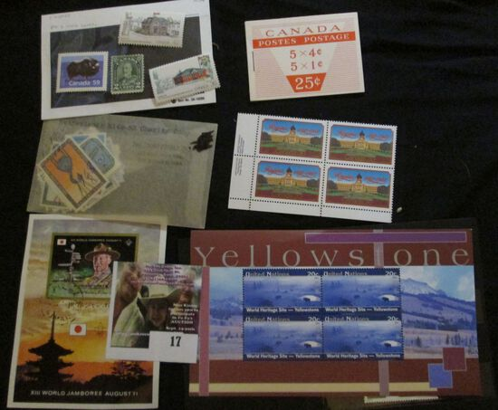 Nice Group Of Mint Canada Stamps; Xiii World Jamboree August 71 Ajman State Mini Souvenir Sheet; Wor