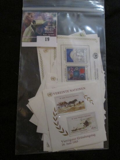 Large Group Of United Nations Mint Blocks Of Stamps And Souvenir Sheets.