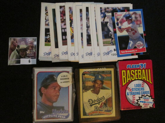 Nice Accumulation Of Baseball Cards Dating Back Over Thirty Years.