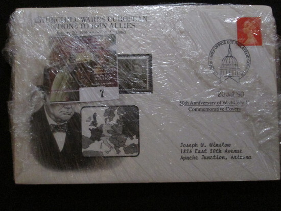 "(5) 50th Anniversary Of World War Ii Commemorative Covers Including ""hitler Vows To Continue War"", """