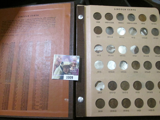 Dansco World Coin Library Album with a partial Set of 1909-81 Lincoln Cents. Lots of Semi-key date c