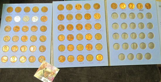 1941-67 Lincoln Cent Set with lots of high grade Cents, stored in a blue Whitman folder.