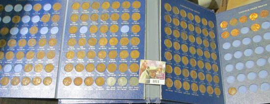 1909-1968 Partial Set of Lincoln Cents in a Harris Honor-Bilt Coin Book.