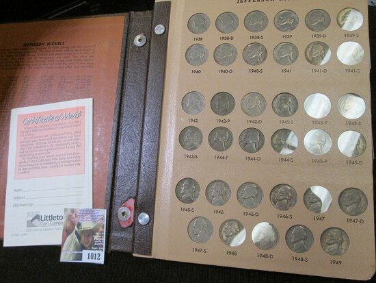 1938-2011 P Complete Set of Jefferson Nickels including the Proofs and lots of BU early date coins.
