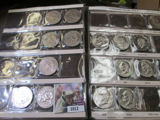 Partial Set of Eisenhower Dollars in a Harco Coin Album. Some PVC toning.  Some Proof issues. (17 pc