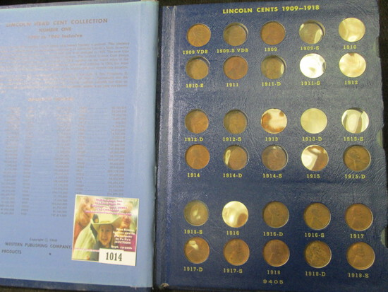 1909-40 Partial Set of Lincoln Cents in a Deluxe Whitman album. Lots of semi-key dates.