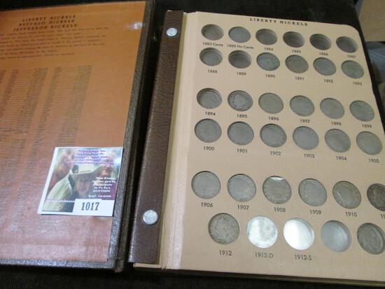 Deluxe World Coin Library Album containing a partial set of Nickels dating 1883-1989. Includes (24)