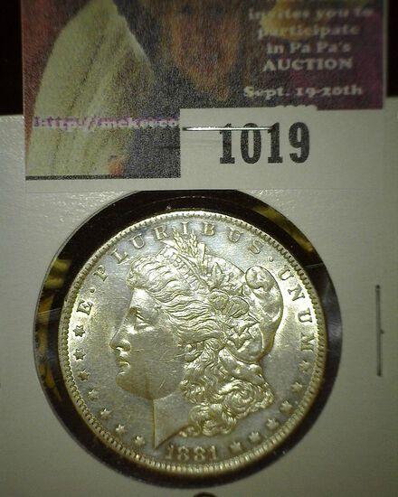 1881 O Morgan Silver Dollar, High grade.