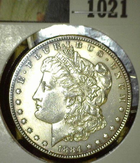 1884 P Morgan Silver Dollar, High grade.