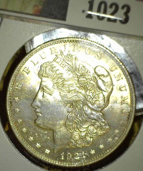 1921 D Morgan Silver Dollar, Brilliant Uncirculated.